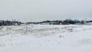 Scrub land between the road and Chateau Nova Hotel