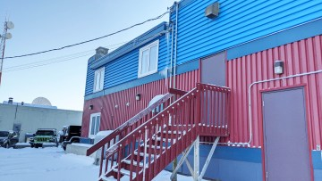 The Mine Rescue Building in downtown Yellowknife