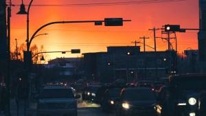 Downtown Yellowknife in late 2020