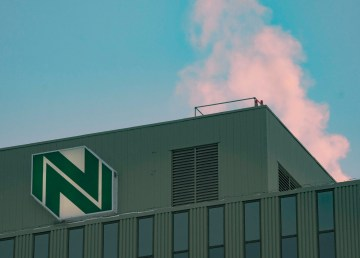 Northwestel's building in downtown Yellowknife
