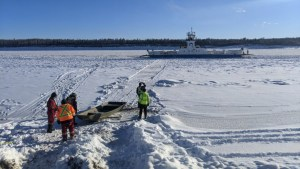 Arctic Response conducts a mission to retrieve crew members from the MV Lafferty ferry