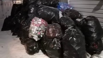 This stockpile of recyclables will turn into Christmas gifts for those in need in Yellowknife