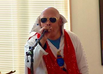 Billy Moore in Elvis regalia