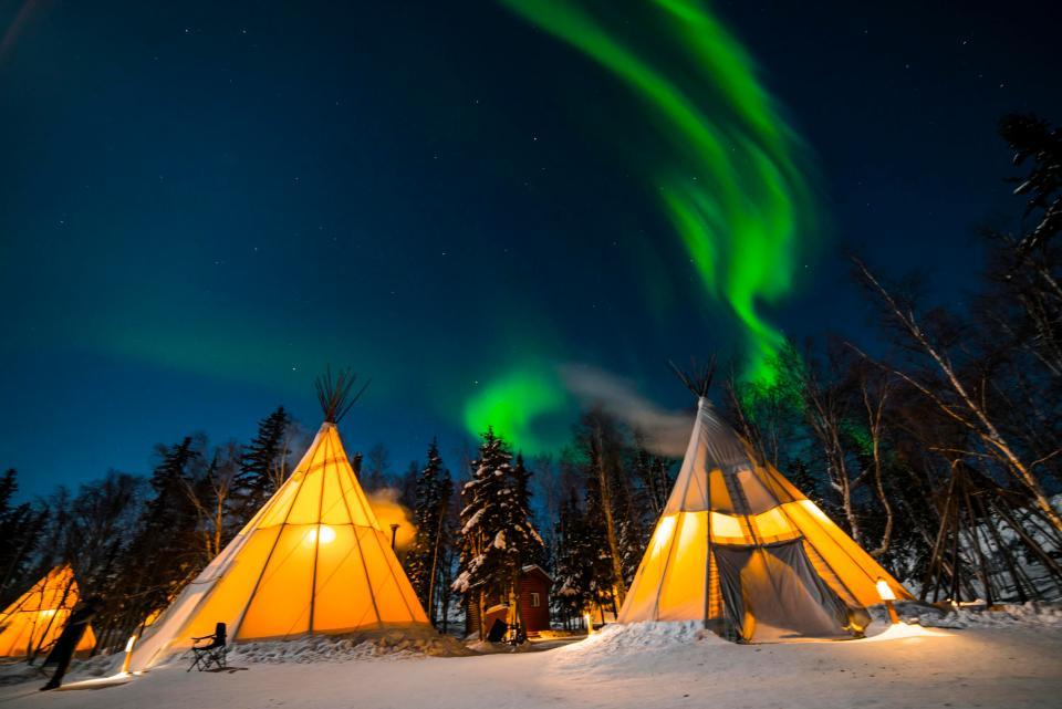 Aurora Village. Adam Pisani/NWT Tourism