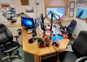 Cabin Radio's Studio One in December 2020