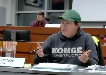 Yellowknife city councillor Niels Konge in December 2020