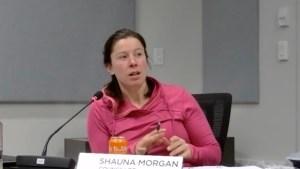 Yellowknife city councillor Shauna Morgan