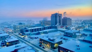 Yellowknife at -40C on a Wednesday morning in December 2020