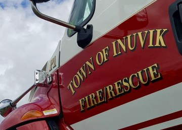 A file photo of a vehicle belonging to the Inuvik Fire Department