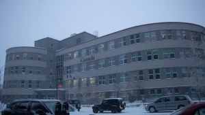 A file photo of the Greenstone building. Luisa Esteban/ Cabin Radio