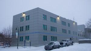 A file photo of the RCMP detachment building. Luisa Esteban/ Cabin Radio.