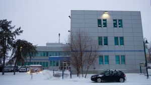 A file photo of the RCMP detachment building. Luisa Esteban/ Cabin Radio.