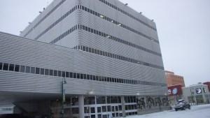 A file photo of the Yellowknife Courthouse. Luisa Esteban/ Cabin Radio.