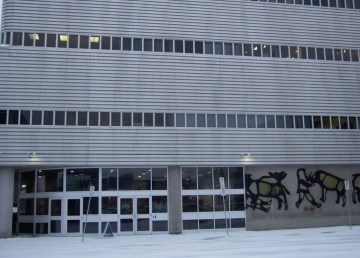 A file photo of the Yellowknife Courthouse. Luisa Esteban/ Cabin Radio.