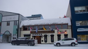 A file photo of The Black Knight Pub. Luisa Esteban/ Cabin Radio.