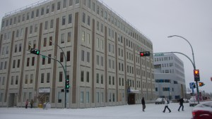 A file photo of the Laing building. Luisa Esteban/ Cabin Radio.