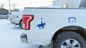 An RCMP vehicle in Inuvik