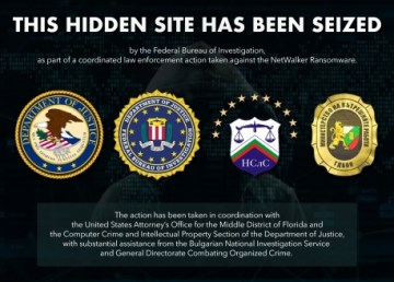 A dark web page used to communicate with NetWalker ransomware victims was seized by US law enforcement as part of an investigation