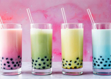 Bubble teas as served at Cai's Kitchen