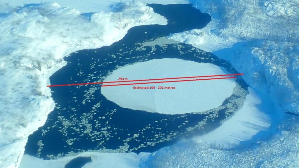 Ice circle on Tsu Lake