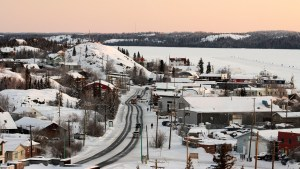Yellowknife's Old Town in February 2021