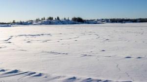 Frame Lake in February 2021
