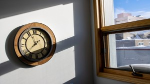 A clock in a Yellowknife office