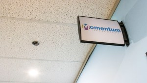 A sign for Momentum Training Services