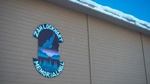 A file photo of the Zah Lockhart Memorial Hall in Łútsël K'é in February 2021. Sarah Pruys/Cabin Radio