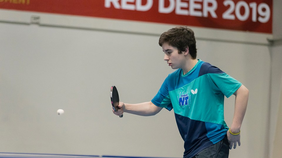 Hay River's Conner McKay-Ivanko at the 2019 Canada Winter Games in Red Deer