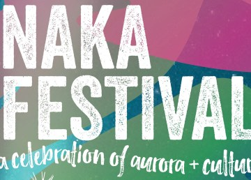 A poster advertising the upcoming Naka festival in Yellowknife