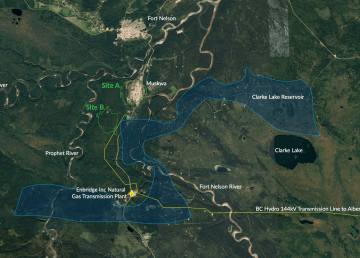 A diagram of the Clarke Lake site from a 2019 feasibility study
