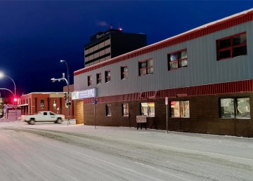 The WH Bromley Building, right, and Gondola Building, left, in downtown Yellowknife