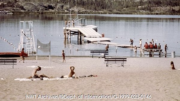McNiven beach on Frame Lake in 1967