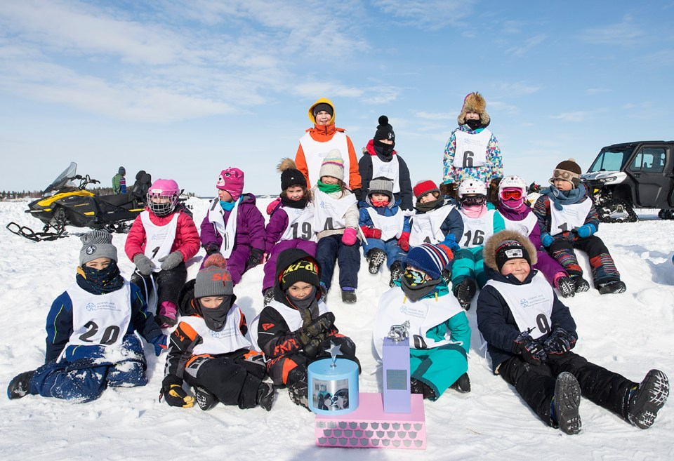 A file photo of the children who participated in the 2-Dog Race at the 67th Canadian Championship Dog Derby.