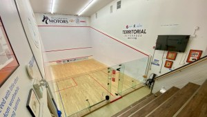 A photo of a squash court shared on Facebook by the Racquet Club in Yellowknife