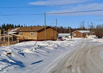 Kátł'odeeche First Nation homes.