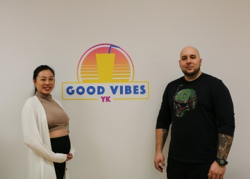 Lucy Do and Mathieu Picard, co-owners of Good Vibes YK