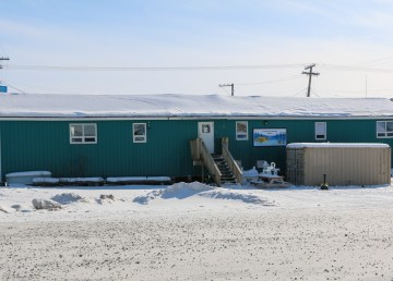 Inuvik Warming Centre in the winter