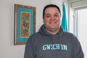 Grand Chief Ken Kyikavichik of the Gwich'in Tribal Council in his Inuvik office