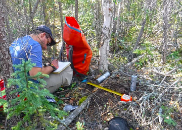 Work is carried out on a study examining background levels of arsenic in Yellowknife soil