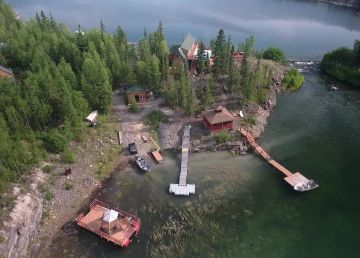 An aerial view of Yellow Dog Lodge in the North Slave. Photo: Submitted