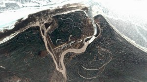 A satellite image of Hay River on May 7, 2021