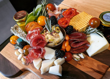 Photo of a charcuterie board prepared by Board Silly and shared on Instagram