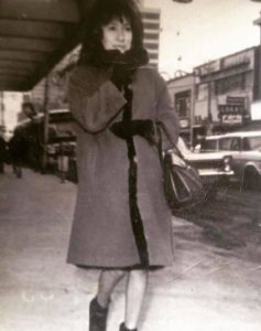 Shawna Yamkovy's mother, Emerence Yamkovy (born Lockhart), in Edmonton, where she went from her home in Łútsël K'é to attend college