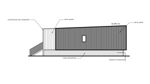 A rendering of one side of the single occupany unit duplex proposed for Fort Smith by the NWT Housing Corporation.