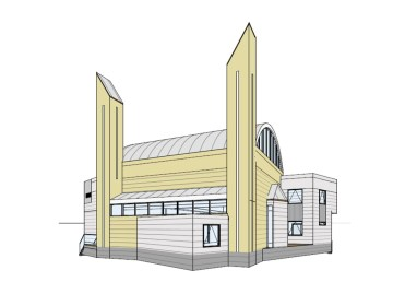 A rendering of the future Islamic Centre of Yellowknife posted to the centre's Facebook page.