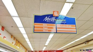 An aisle of Inuvik's NorthMart store