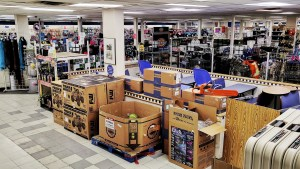 Goods inside Inuvik's NorthMart store