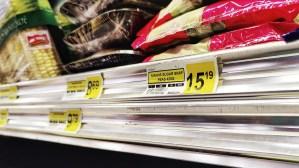 Prices at a grocery store in Tuktoyaktuk in June 2021